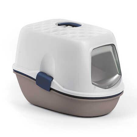 Stefanplast Furba Kapalı Kedi Tuvaleti Deniz Mavisi