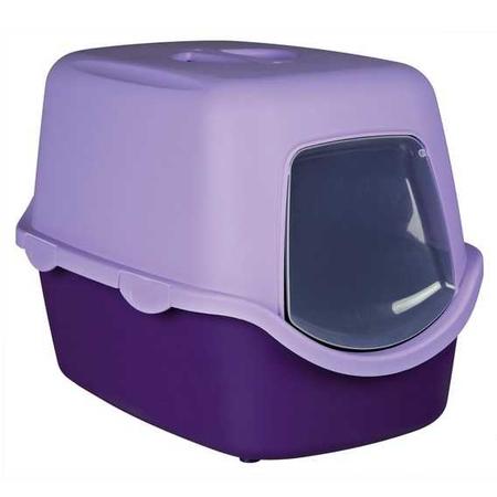 Trixie Kedi Kapalı Tuvaleti, 40X40X56cm, Mor-Krem