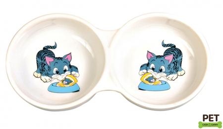 Trixie Porselen Kedi Mama ve Su Kabı 2x0,15lt