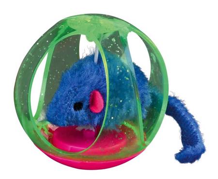 Trixie Kedi Oyuncağı Top İçinde Peluş Fare 6cm