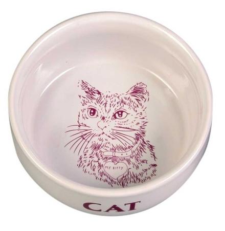 Trixie Kedi Seramik Mama ve Su Kabı 0,3lt11cm Beyaz