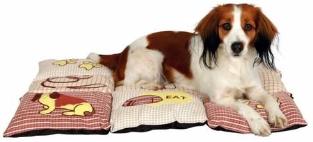 Trixie Köpek Yastığı ve Yatağı 80x55cm Kırmızı/Bej