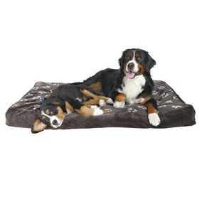 Trixie Köpek Yatağı 100x70cm Pati Desenli Gri