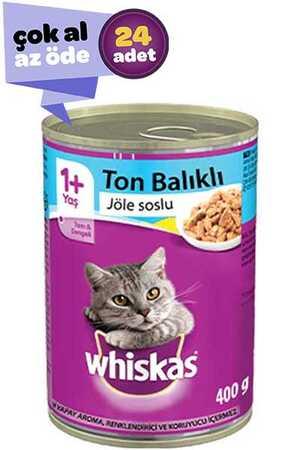 Whiskas Ton Balıklı Jöle Soslu Yetişkin Kedi Konservesi 24x400gr (24lü)